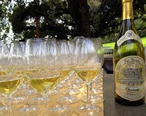 glasses of far niente chardonnay