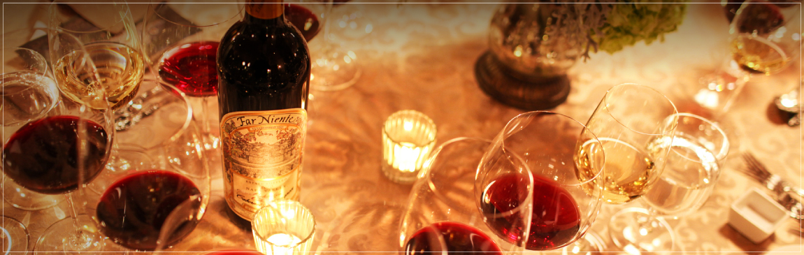 Napa Valley Winery Candlelit Dinner with Cabernet sauvignon