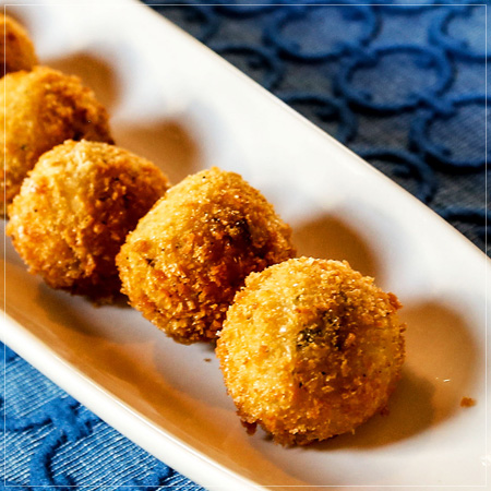 Mushroom Croquettes with Sherry Shallots