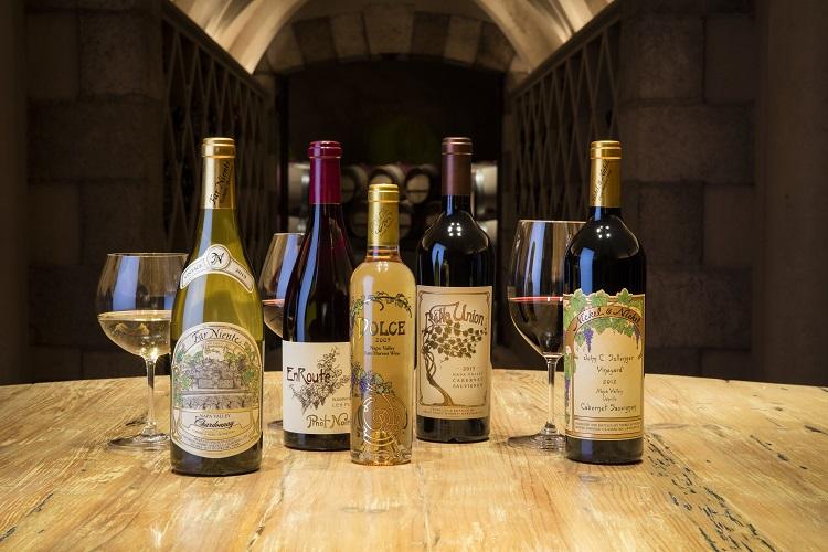 Far Niente and Nickel & Nickel Wines on a table