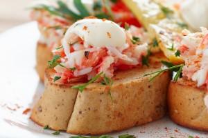 Crab Salad on Brioche