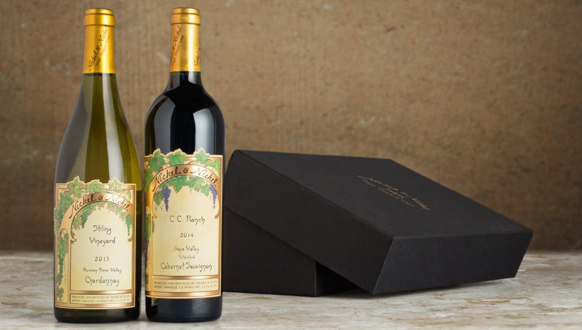 Saveur. Two-bottle wine gift
